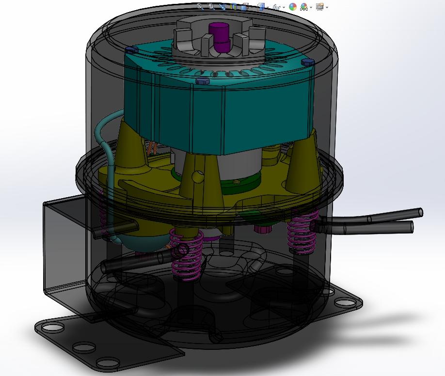 旋转式冰箱压缩机图片