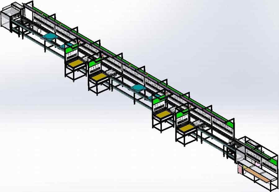 【中南】输送设备-车位锁倍速链组装流水线