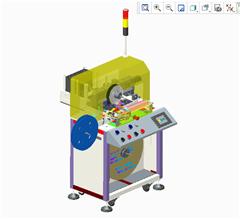 【鸿达】包装机械-SMD元器件全自动编带包装机PROE设计