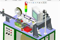 【鸿达】包装机械-手机屏平面度检测编带包装机PROE设计