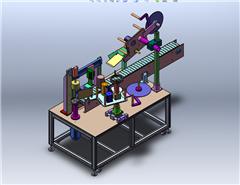 【鸿达】包装机械-自动化包装贴标机设计模型