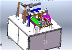 【鸿达】包装机械-非标电池检测贴胶包装一体机设计模型