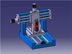 【鸿达】机床-3轴数控铣床模型6