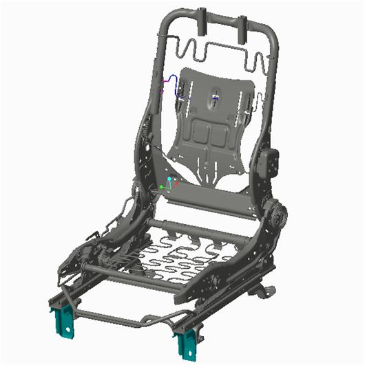 汽車座椅骨架 proe5.0設計prt文件分享,總裝配圖為frame_of_car_seat.