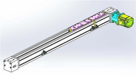 XJ60BT1-L500 单轴同步皮带滑台 大行程线性模组 直角坐标机器人 搬运机械手