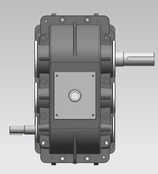 v带-二级展开式圆柱齿轮减速器3d模型下载_三维模型