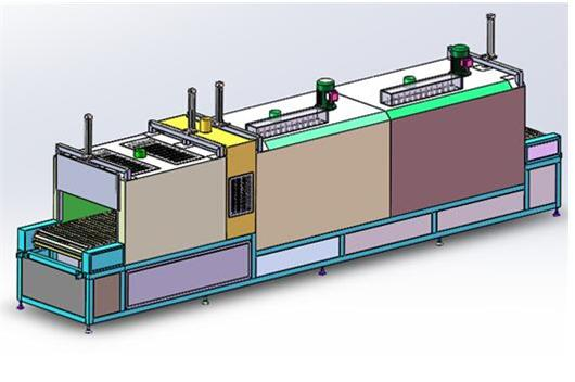 隧道炉_热风循环隧道烘干炉 网带隧道炉3D模型下载_三维模型_SolidWorks ...