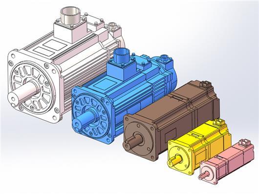 安川伺服电机 20W-3KW全部3D模型