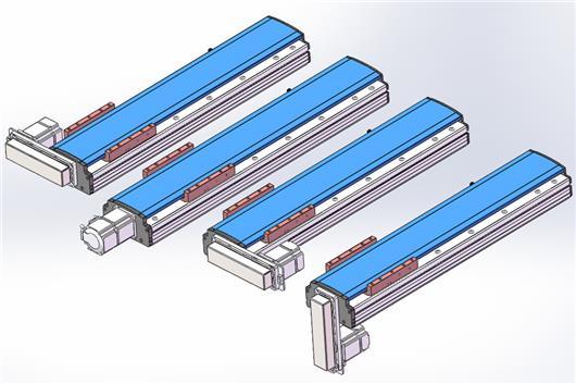 直线模组 136宽度线性滑台 20直径滚珠丝杆模组 最大水平负载85KG 垂直负载25KG 3D模型免费下载