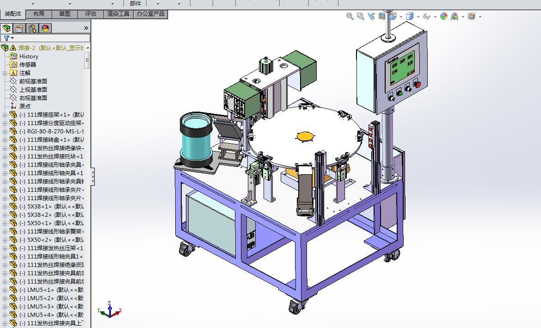 转塔式结构,机械手抓取上一台工艺设备的输送的零件放置在转盘工装上