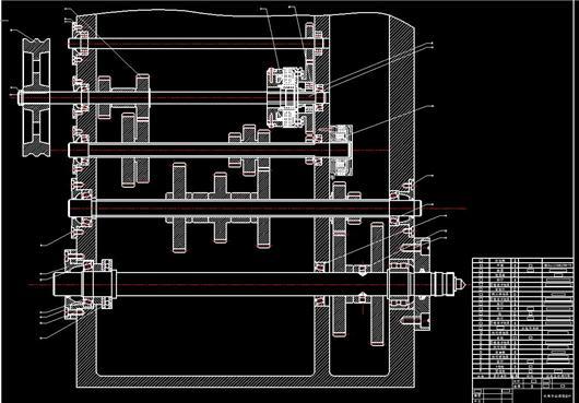 普通车床主传动设计_回转直径360mm普通车床主轴变速箱传动系统设计-课程设计图纸 ...