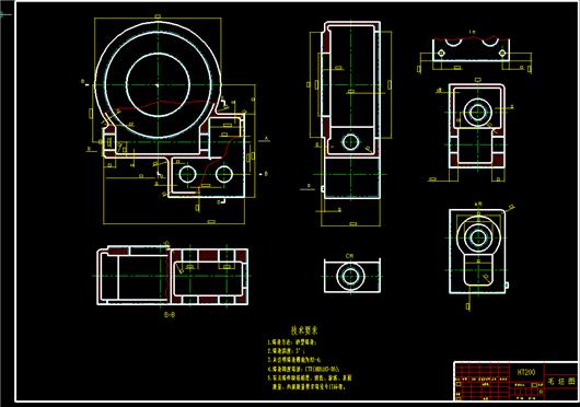 减速器箱体加工工艺_减速箱体零件工艺规程及加工Φ52H8孔夹具设计-毕业设计图纸下载 ...